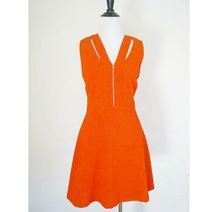Sandro Orange Cut Out Dress